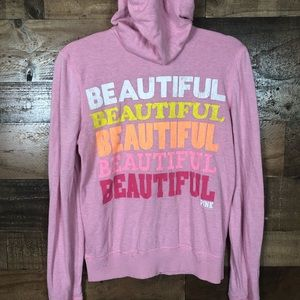Pink Victoria's Secret zip up hoodie